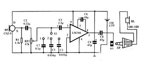 尽管助听器的电路结构与一般扩音机在形式上较为相似,但二者的要求有